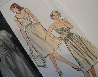 1980s Vintage Vogue Sewing Pattern 8005 Size 12 Wrap Sun Dress Jacket