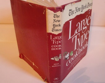 1960s Vintage Cookbook New York Times Large Type