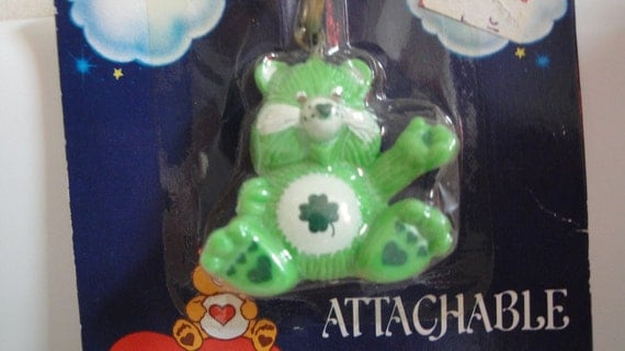 1980s Care Bear Good Luck Bear Key Chain
