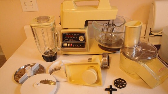 1970s Vintage Oster Regency Kitchen Center Mixer Grinder