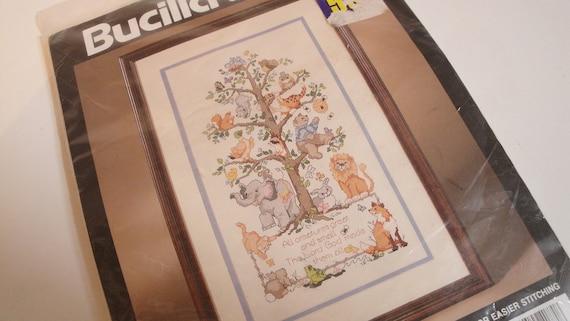 All Creatures Animal Bucilla Counted Cross Stitch Kit Unused 1994