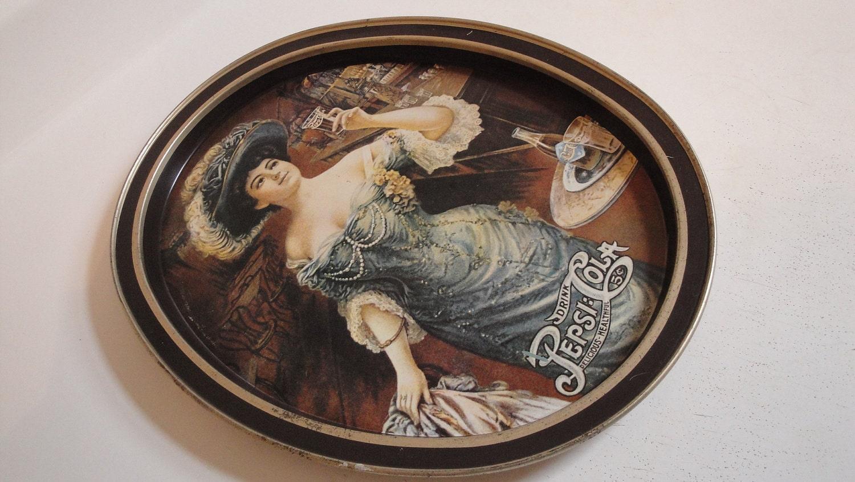 Vintage Pepsi Tin Tray Victorian Lady