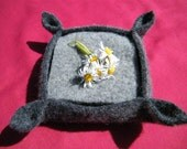 Felted Coaster Set in Tones of Gray