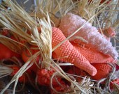 Vintage Chenille Easter Carrots, Free Shipping