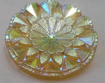 Sunburst Czech Glass Button