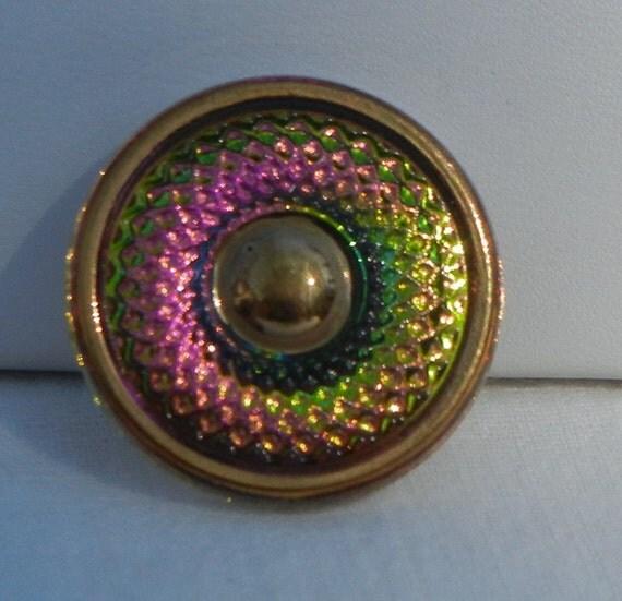 Circle, Circle Czech Glass Button