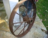 Vintage - Antique Wagon Wheel - Rustic Home Decor - Garden - Decorative - Farmhouse Chic - Shabby Decor