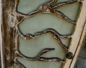 Wooden Furniture - Oak Tree Cabinet - Storage Shelves, Shabby - Cottage Chic - Bookcase - Book Shelf - Rustic Home Decor