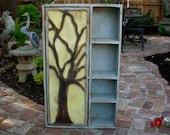 Wood Furniture - Shelf - Rustic - Oak Tree Cabinet - Artistic Furniture - Storage Shelves -  Honey's Treasures