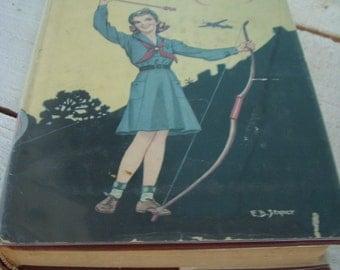 Antique Book - Rare - The Girl Scouts Rally or Rosanna Wins - Collectible - Gift Idea