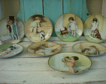 Hamilton Collection Plates - Bessie Pease Gutmann - A Child's Best Friend 1985 Series - Collectible Plate - Dishes - Nursery Decor - Home