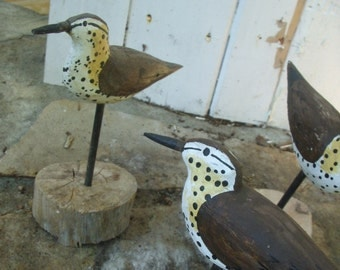 Wooden Shore Birds- Hand Carved