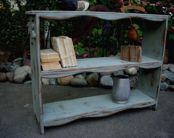 Rustic Shelving - Entryway - Entry - Handmade Wood Shelf - Rustic Table - Bookshelf - Toy Shelf - Rustic Home Decor - Shabby - Cottage Chic