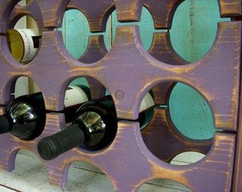 Wood Wine Holder - Storage - Wet Bar - Kitchen - Household Items - Wooden Wine Rack - Wine Bar - Handmade - Home Decor - Rustic Chic