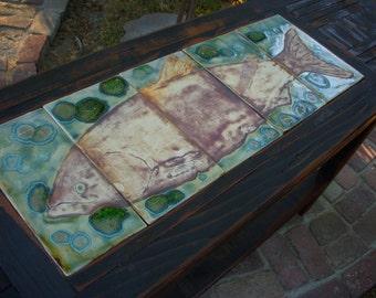 Handmade Wood Table - Shabby Beach Cottage - Sofa or Buffet Table - Wooden Entryway Table