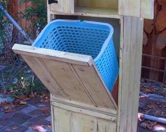 Wood Furniture - LOCAL ONLY - Storage Bins - Laundry Hamper - Trash Bin - Eco Chic - Storage Solution - Laundry Room Storage - Organization