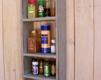 Wood Shelf - Shabby - Paris Apartment - Cottage Chic - Storage Shelves - Storage - Spice Rack - Kitchen - Organize - Organization - Rustic