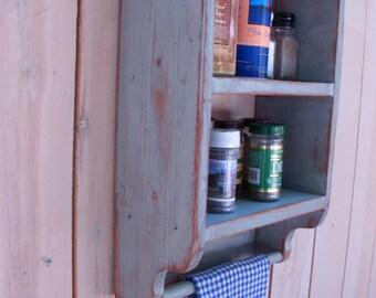 Bath Shelf - Bath Decor - Rustic - Kitchen - Spice Rack - Handmade Shelf - Paris Apartment - Shabby - Cottage Chic - Storage Shelves