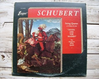 Schubert Death and the Maiden - Vintage LP Vinyl Record Album
