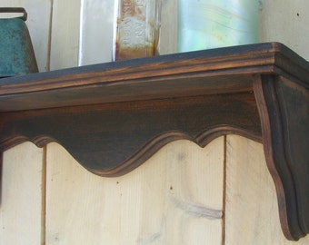 Wood Shelf - Shabby - Distressed Furniture - Chic - Cottage Furniture