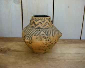 Vintage West Germany Pottery - Vase - German - Southwestern Decor - Southwest