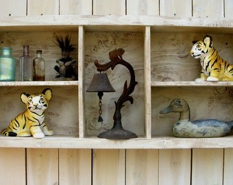 Wall Shelf - Wood - Wooden - Cubby - Shelving - Rustic - Shabby - Cottage Chic - Home Decor