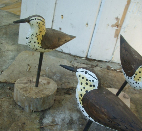 Shore Birds- Hand Carved
