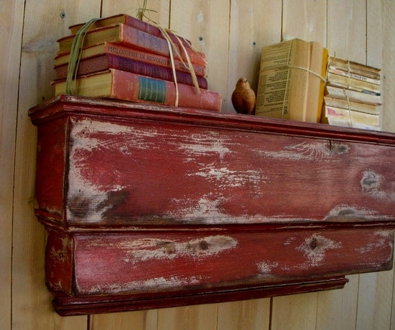 Wooden wall shelf shabby cottage french country paris for French country shelves