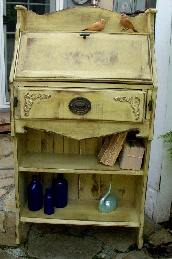 Handmade - Desk - Bookshelf - Bookcase - Rustic Elegance - Home Decor - Paris Apartment- The Etagere Desk - Honeystreasures