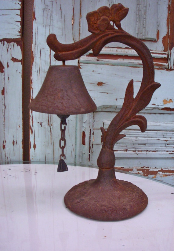 Antique Bell - Cast Iron - Decorative - Functional - Rustic Old Bell - Rusty - Ringing