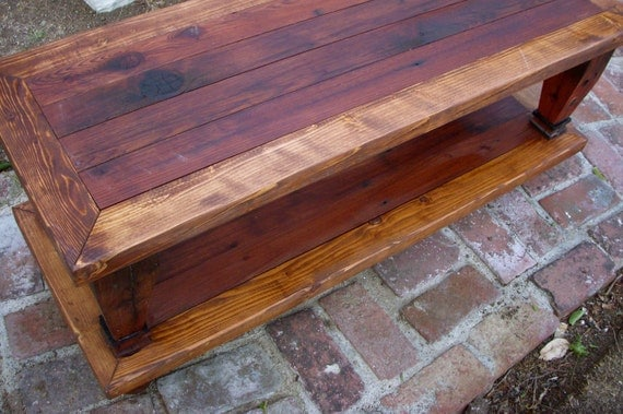 wood wooden coffee table handmade living room furniture shabby