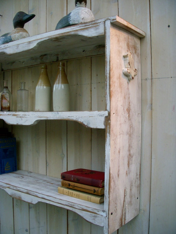Bookshelf - Shelving - Entryway - Table - Rustic - Toy Shelf - Home Decor - Shabby - Cottage Chic - Beach Cottage Decor - Honeystreasures