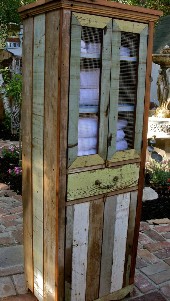 Reclaimed Wood Furniture Cabinet Handcrafted Shabby