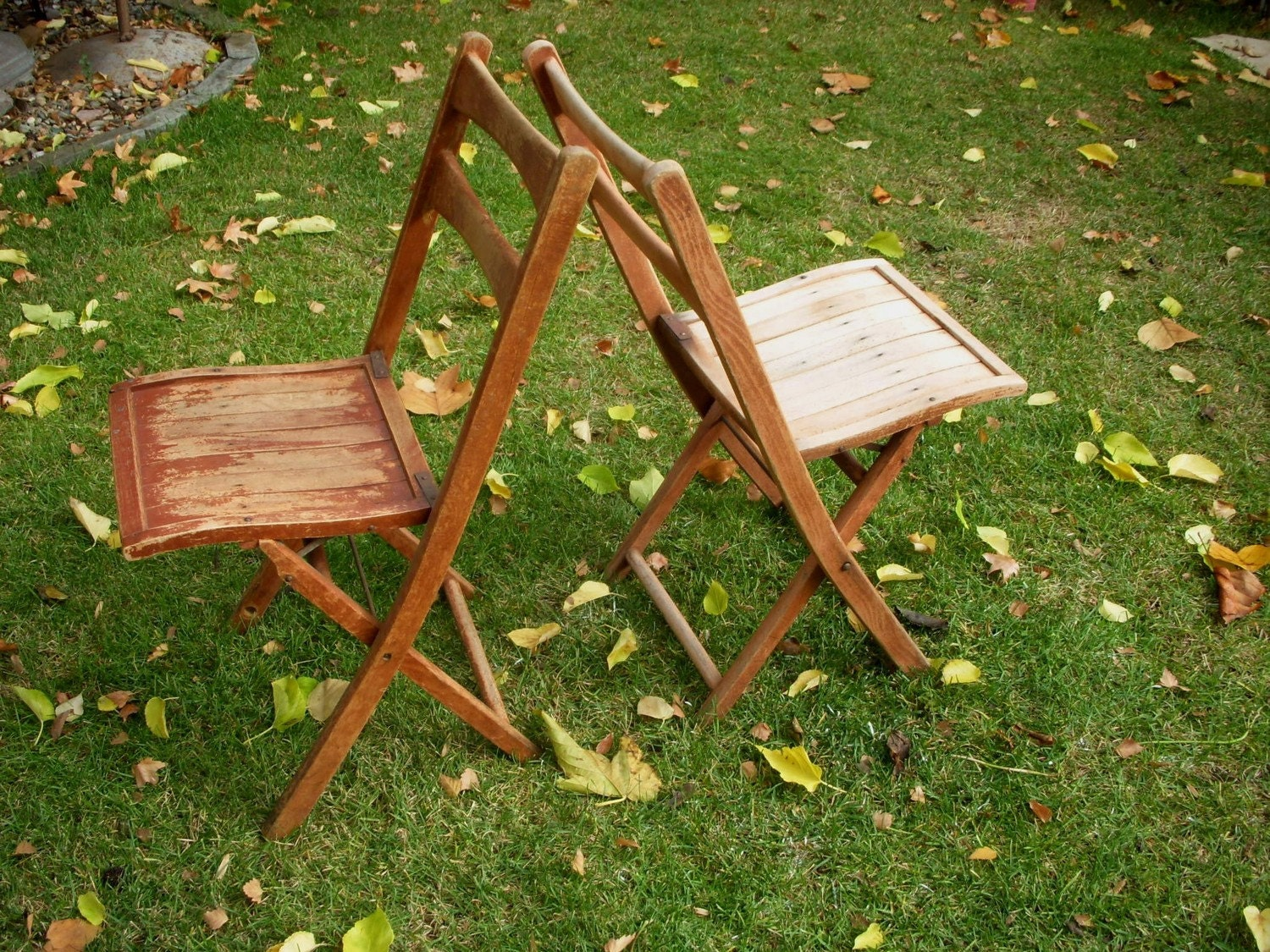 antique wood wooden garden dining chair vintage