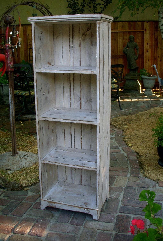 Bookcase Wooden Shelf Rustic Shabby Furniture Shelves