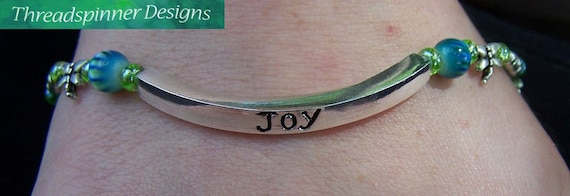 Handmade Jewelry - JOY Beaded Bracelet on Etsy by Threadspinner Designs