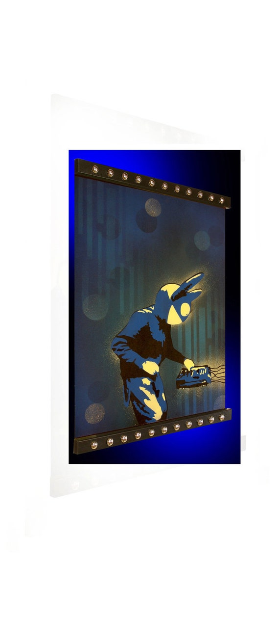 24 x 32 Pop Art Painting Custom Deadmau5 Deadmau 5 Unframed. Frame available for separate purchase