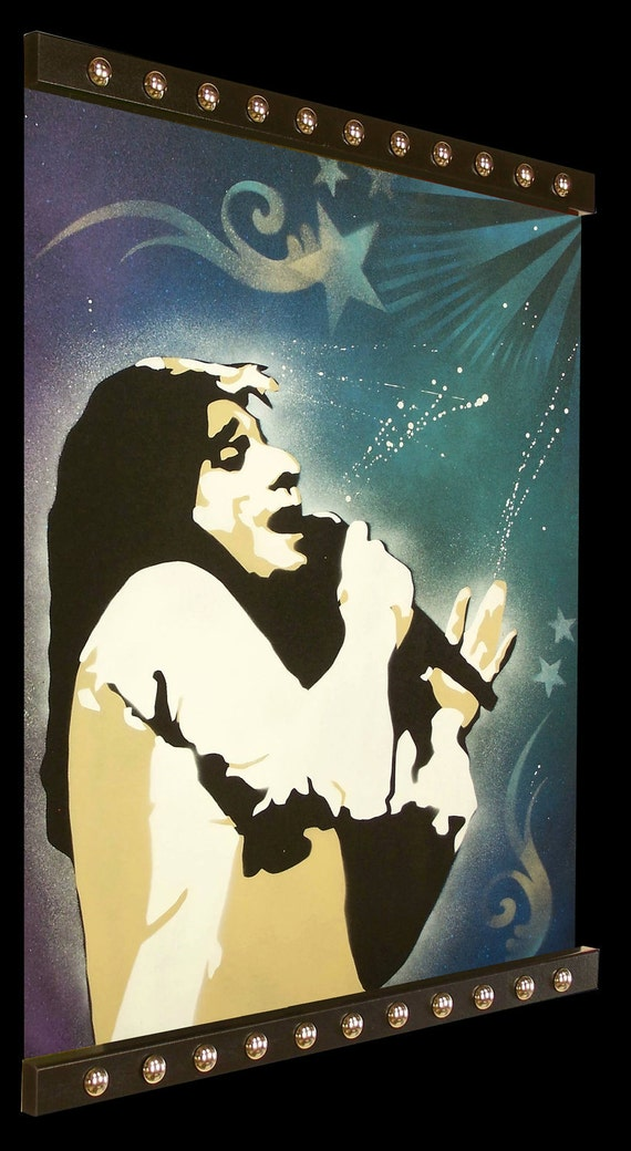 24 x 32 Pop Art Painting Custom STEVE PERRY JOURNEY Unframed. Frame available for separate purchase