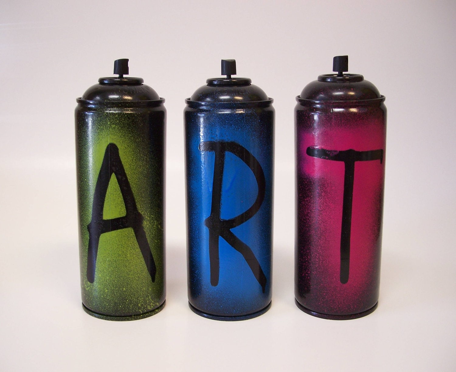 2 Sided Empty Spray Paint Cans Set Of 3 Paint The By Nonuglyfaces
