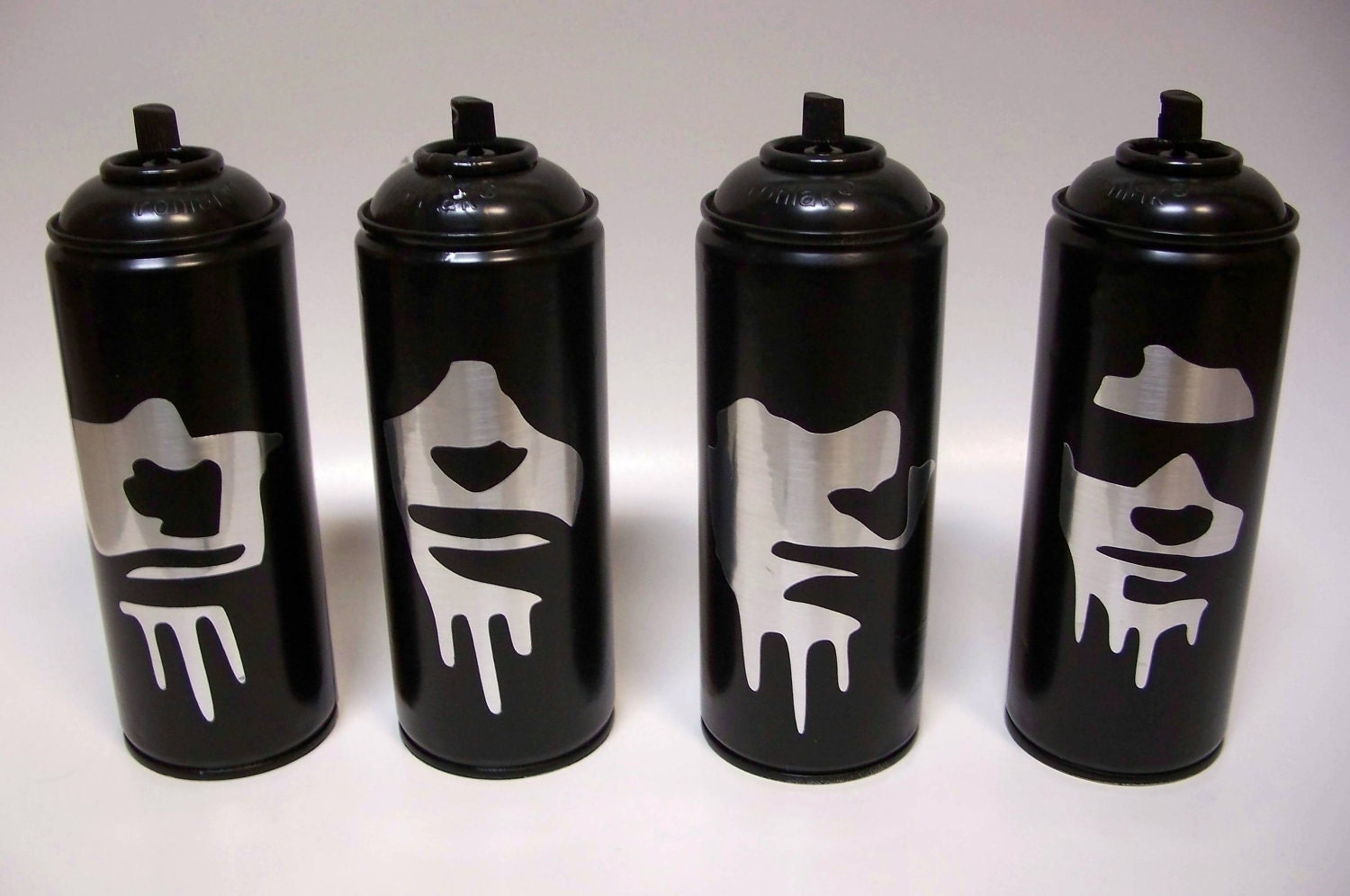 4 Empty Spray Paint Cans Of The Ramones Johnny Joey Dee Dee