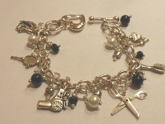 Charm Bracelet for Cosmetologist or Beautician