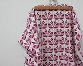 Belbird Design - Hand Screen Printed Fabric in Raspberry