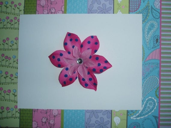 Strawberry Blueberry Flower Clip