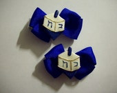 Hanukkah  clippie Hairbow Set