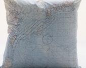Japan  Silk aviator map cushion