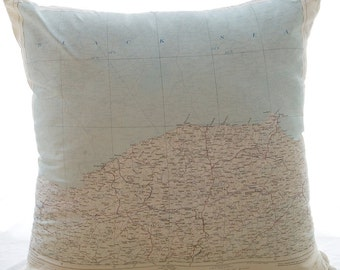 Silk Aviator Map Cushion (Ankara-Turkey)