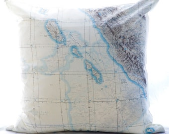 Silk Aviator Map Cushion (Mentawai Islands-Indonesia)