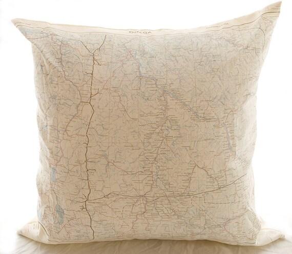 Silk aviator Map Cushion (Onega Russia)