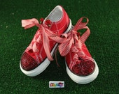 "Private Listing ""Red Swarovski Converse Sneakers, Womans Size 6"