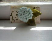Dusty Blue Felt Flower Pin- Great Stocking Stuffer-